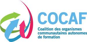 Logo de la Coalition des organismes communautaires autonomes de formation (COCAF)